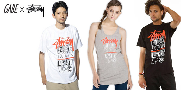 "GABE X Stüssy: ""Boogie Down Live It Up"" T-shirt"